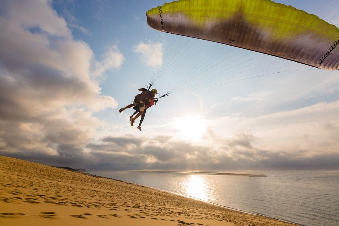 Went paragliding for the first time over Europe's tallest sand dune and the Bay of Arcachon - while doing (as far as I know) the first Facebook Live video as we flew - check it out in my Alison's Adventure Facebook page to come with us in the wild ride...