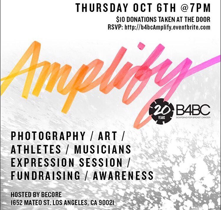 TOMORROW join us at @becore in DTLA to celebrate our 20th Anniversary! We've got amazing art, photography, food, drinks, athletes, music, and so much more... We promise, you won't want to miss this! RSVP IN OUR BIO! #B4BCAmplify