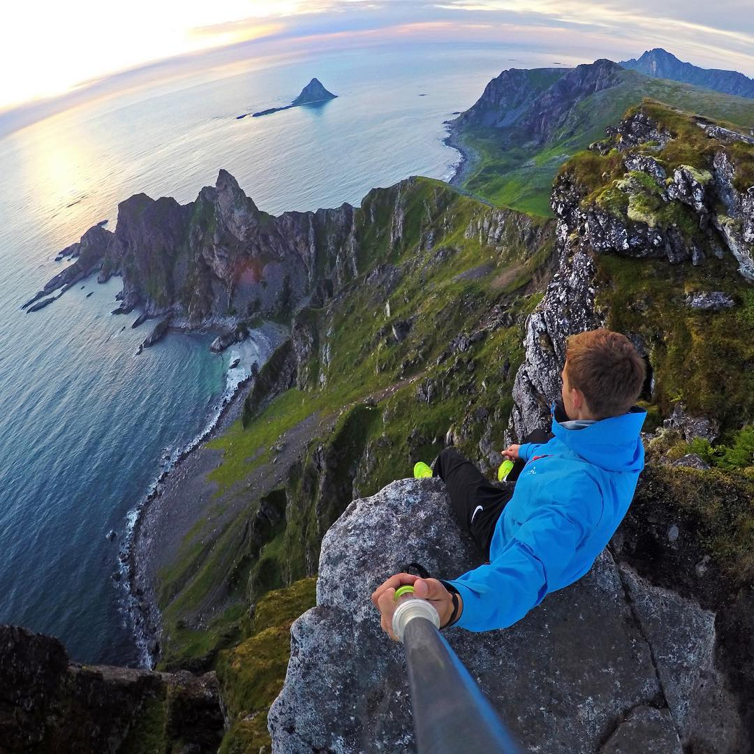 Looking out over the coastline in Northern Norway. Photo by @tordkarlsen. Shot with GoPro HERO4 & GoPole Evo. #gopro #gopole #gopoleevo #hiking #norway