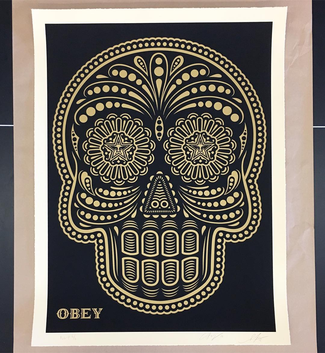 This AMAZING collaboration from @obeygiant and @ernestoyerena is available for auction tomorrow night at Amplify, B4BC's 20th Anniversary celebration! RSVP in our bio so you can take home this beautiful piece of art! #b4bcamplify