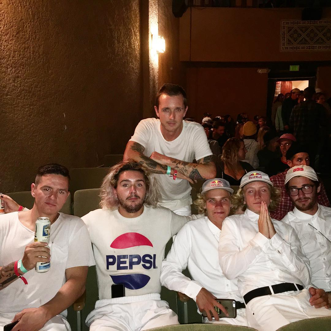 It's #FutureBoy @redgerard's night at the #LaPaloma theater for the @twsnow premier of #Insight. All white is the flavor of the evening!