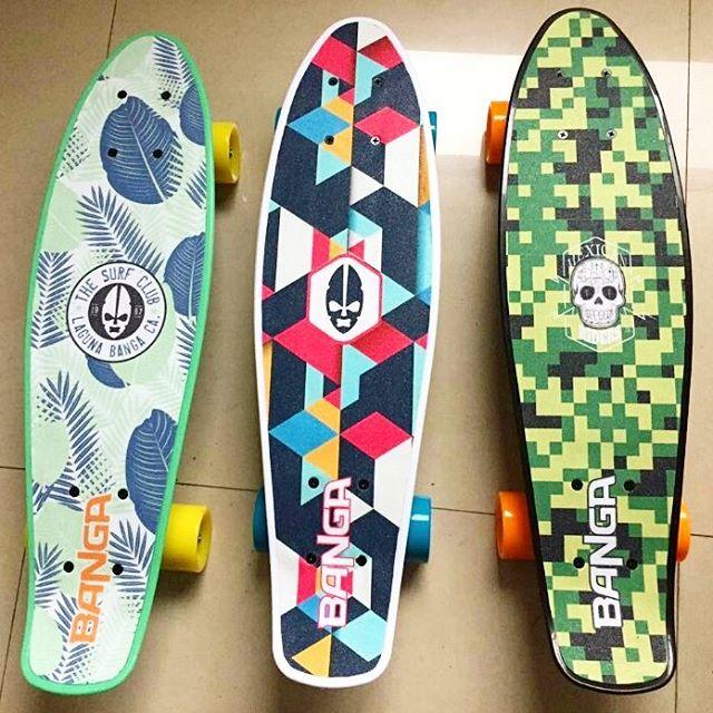 La nueva línea de mini cruisers BANGA la rompe! ........ . . . . #skate #long #longboard #cruiser #penny #pennyboard #banga #color #instaskate #skategirl #calle #skateshop #surf #surfgirl #surfing #surfsteet #bodyboard