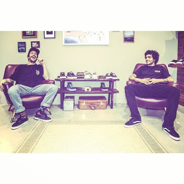 Risas cómplices @manu_dominguez y @dariomattarollo del #TeamVans en el #VansCaliforniaCollection