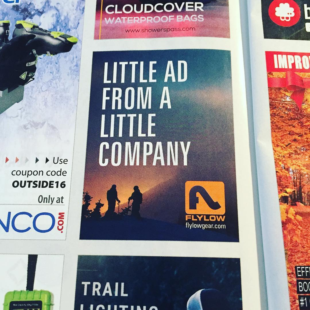 You like our new ad in @outsidemagazine ?  Made us laugh:)