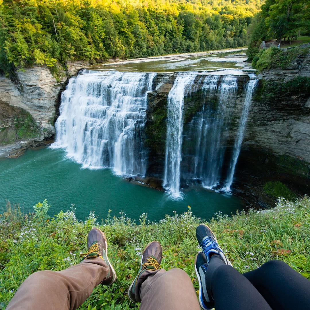 Sunset behind Letchworth State Park with @travisburkephotography and @chelseakauai