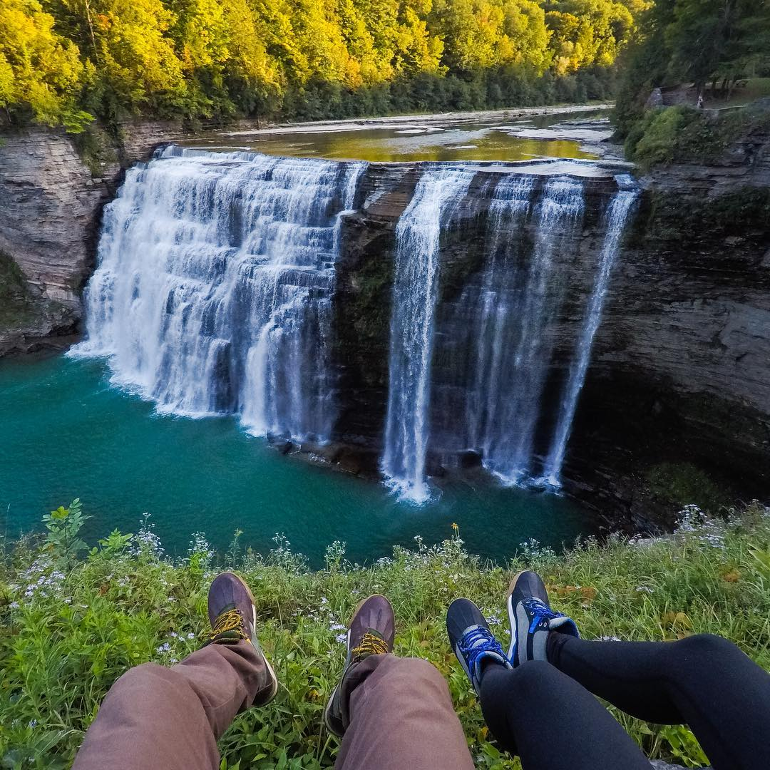 @TravisBurkePhotography + @chelseakauai arrived on the #EastCoast with the #HERO5 to #roadtrip and cruise around for two weeks. The first stop?  #LetchworthStatePark in #NewYork to watch the last light hit the trees before sun went down. #GoPro...