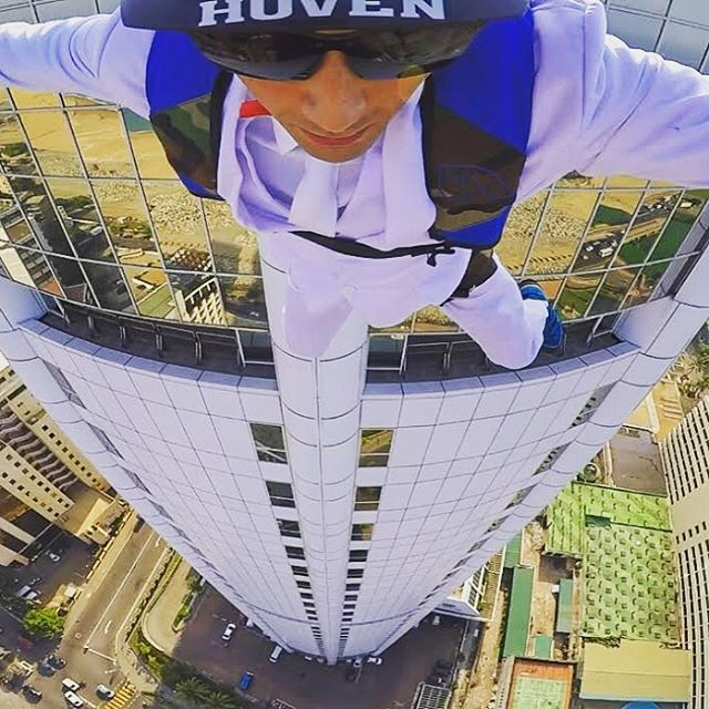 View from the Top #whatsyourvision #hovenvision #alwayssunblocking #neverfunblocking #basejump #lookmomnohands