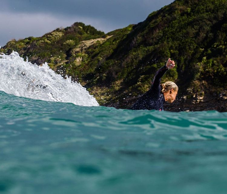 @emmanuellejoly (6x european surf champ) in her element.