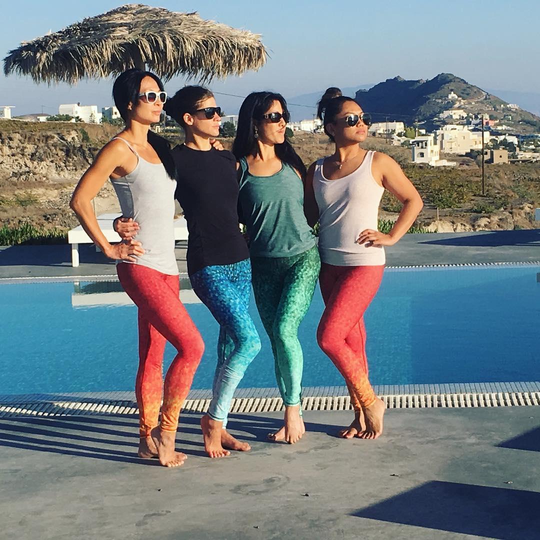 MERMAID SQUAD  Ambassador takeover @lauraburkhartyoga . . . #travel #yogaretreat #greece #yogaeverywhere #okinolife #travelthursday #wanderlust #poolside #mermaid #mermaidlife #fashion #vacation #OKIINO