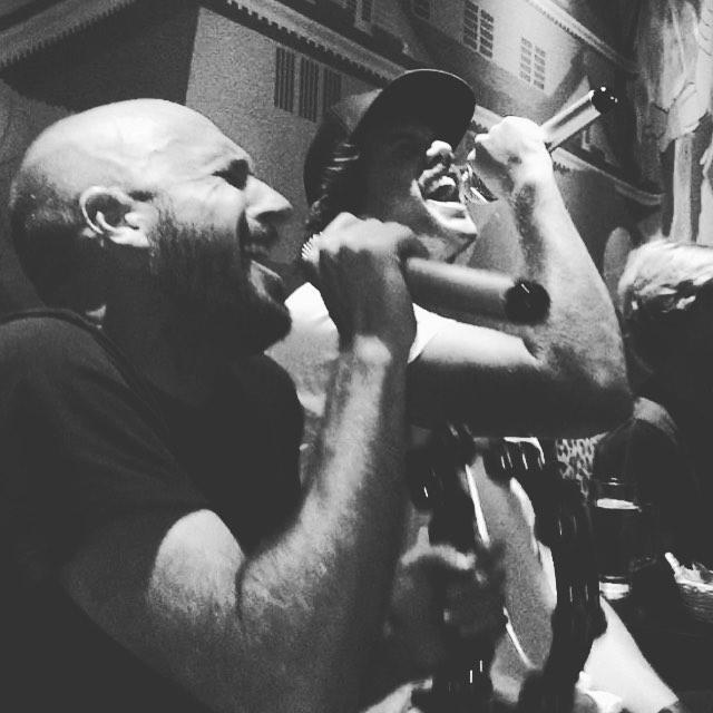 When @billabongusa and @billabong_australia reunite. Karaoke is good for the soul. #roxanne @billabongjapan