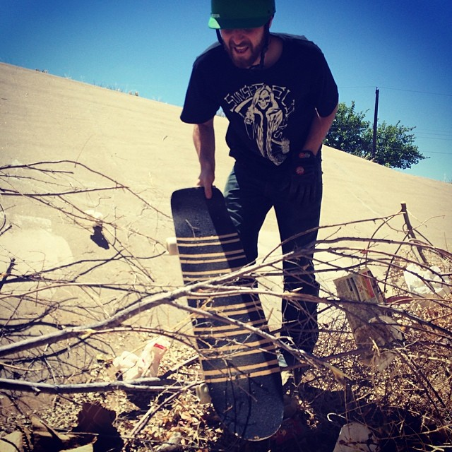 Albuquerque ditches are filled with all sorts of garbage and sometimes you can't avoid it.  Dead Fred pulls his board out of the mess so he can go get some more.  We are now back in the bay. All orders shipped out today! Have a great weekend!