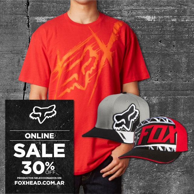 ¿Todavía no compraste en el SALE de Fox? No te pierdas el 30% de descuento en productos seleccionados comprando on line en www.foxhead.com.ar. Encontrá todos los productos de esta promo en la pestaña de SALE. Comprá Fox Head siempre original y con...