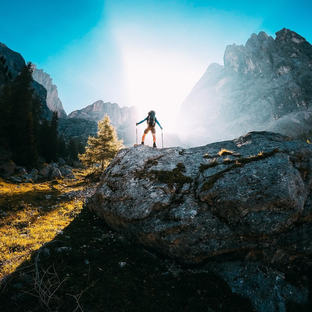 Photo of the Day! @michielschrauwen kicks off his weekend with a hike up the #MarmoladaGlacier in the #Dolomites. What a beautiful shot! #GoPro #GoProTravel #GoProIT #Hiking #Climbing