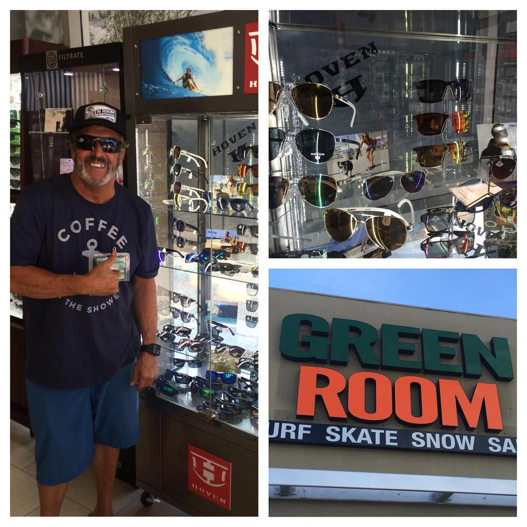 @greenroom_oc fullystocked for the weekend! Come on down--give our boy Sully a high wave and check out the newest additions to the HOVEN line. #whatsyourvision #hovenvision #alwayssunblocking #neverfunblocking #greenroom #oc