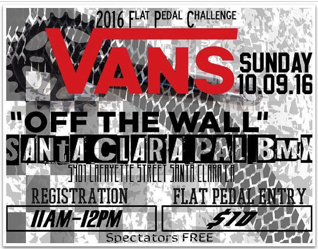 This Sunday @tryonbmx will be competing in the @vans Flat Pedal Challenge at Santa Clara Pal BMX. Come though and see him rip before he leaves for @fiseworld China #vansbmx