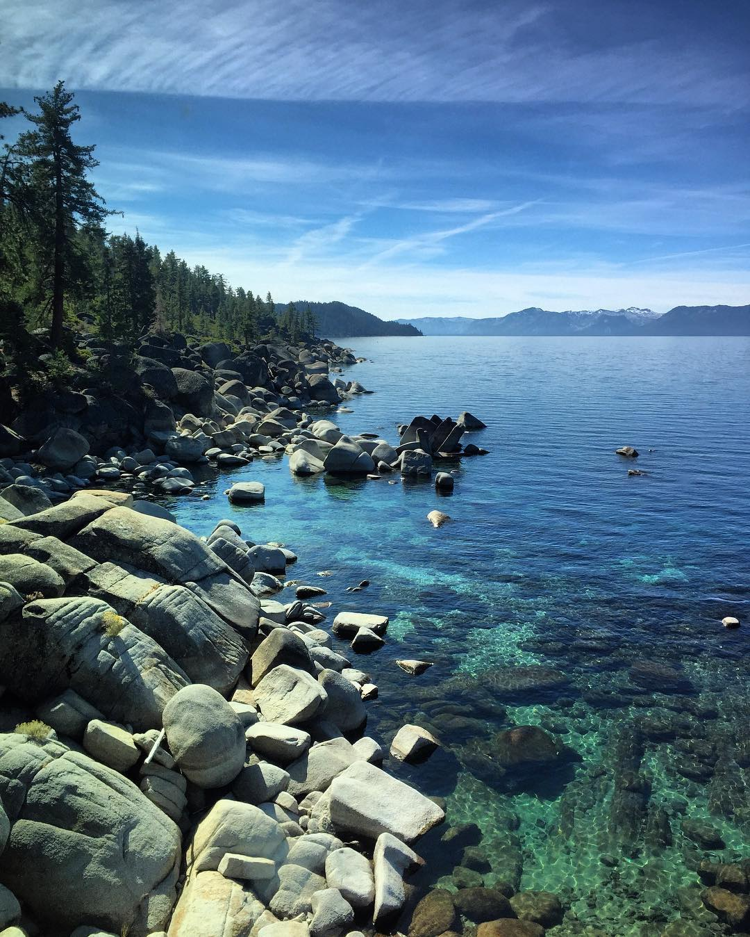 It's a beautiful day at Lake Tahoe.