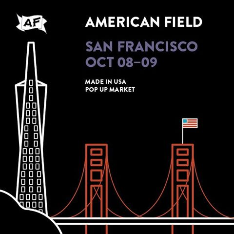 Come join us this weekend at Ghiradelli Square for the SF @americanfield show! Checkout some of the best #madeintheusa