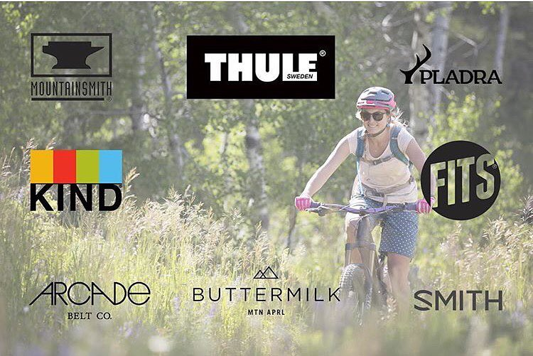 Hey outdoorsy girls! We've teamed up with our friends at @buttermilkapparel @thule @arcadebelts @fitssocks @kindsnacks @mountainsmith and @smithoptics to bring an awesome giveaway filled with women's specific mountain bike gear! The package includes...