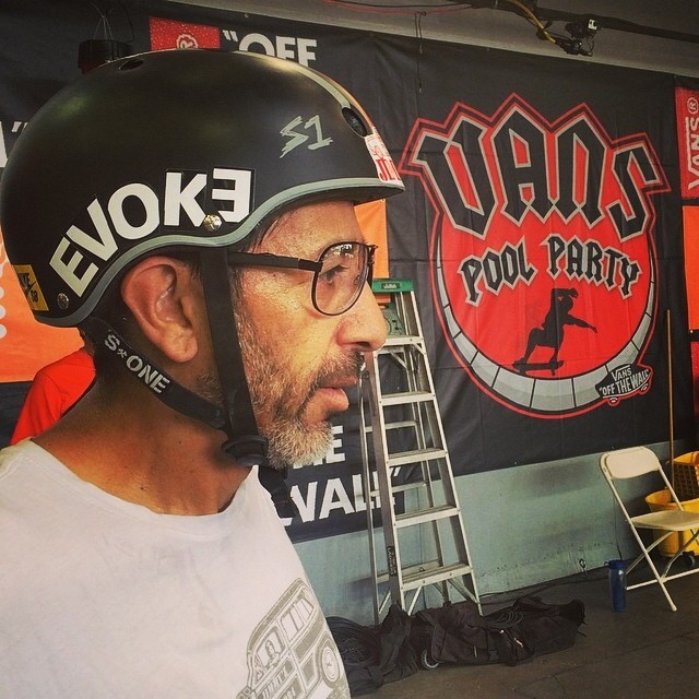 Regram @dawnaelguera . El Gato is ready for the #vanspoolparty at the #vans #skatepark tomorrow. @eddieelguera wears the S1 Lifer x El Gato Helmet . Great fit + best protection + OG style = El Gato Lifer Helmet
