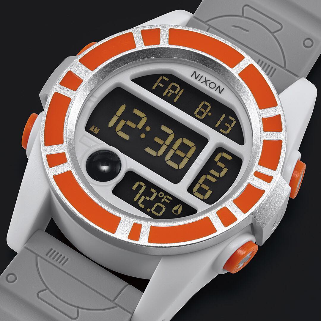 A fiercely loyal droid, #BB8 stays by Resistance pilot Poe Dameron's side no matter where the mission takes him, making the tough and durable Unit a perfect match for the latest installment of the #StarWars | #Nixon Collection.