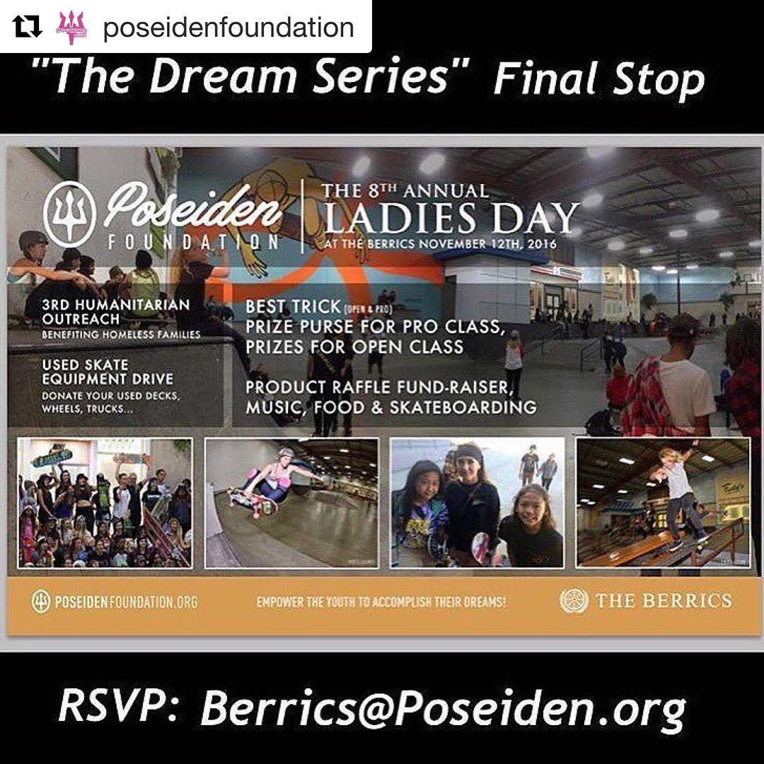 Don't miss out on ladies day at the @berrics