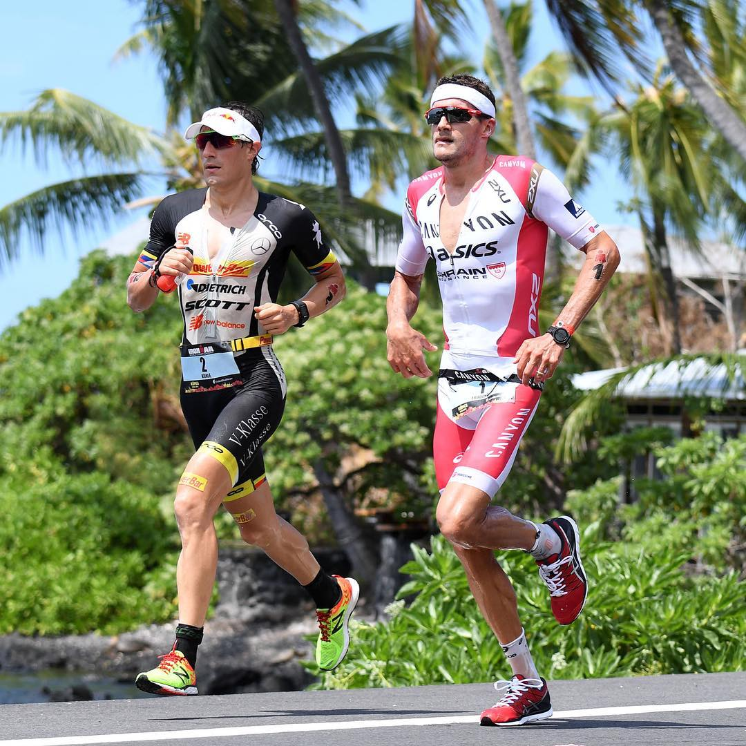 2.4-mile swim and 112-mile bike are complete and the last two #IMKona champs are currently 1 & 2 as the marathon kicks off in Kona. Only 26.2 miles of pain to go. |