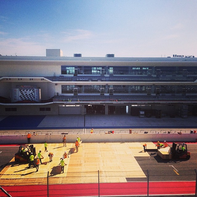 Day one of load in for #xgamesaustin ! @cota_official