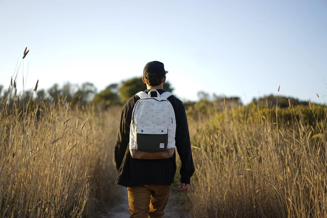 Each of our materials is selected with the planet and our partners in mind. The daydream daypack, made from handwoven Indian ikat, vegetable tanned leather and organic cotton canvas is a testament to this ideal.