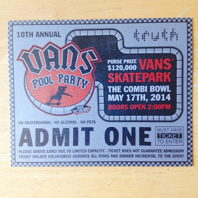 Hmm, what should I do today? Oh yeah, this! If you can't make it, watch the live webcast at vans.com/poolparty starting at 2pm. #vanspoolparty #skate #skateboarding #skatelife #vans