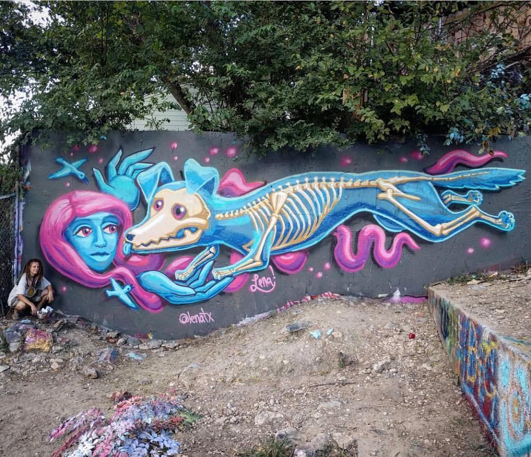 @lenatx • • #spratx #lenaatx #spratxladies #austintx #mural #atx #hopeoutdoorgallery