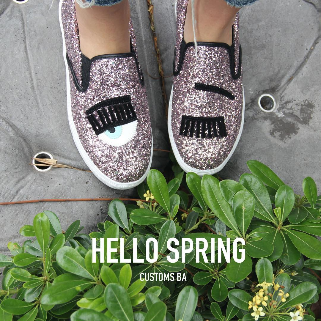 WEEKEND XL-> •Pancha Chiara Ferragni• #CustomsBA #details #spring ☀️✨