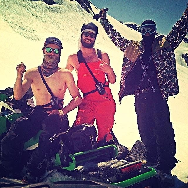 Who wants to ski with this crew?!? @wileymiller @kyepetersen and @killahcal making the most of May. Just cause the lifts aren't spinnin' doesn't mean we aren't skiing! #riderowned