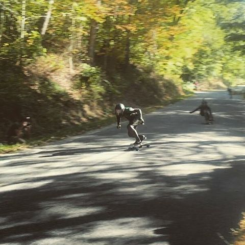 Team rider Michael Carson--@mcarsonlikescats making his cat purr at Solidiers of Downhil last weekend!  #michaelcarson #mccat #bonzing #beartrucks #hawgswheels