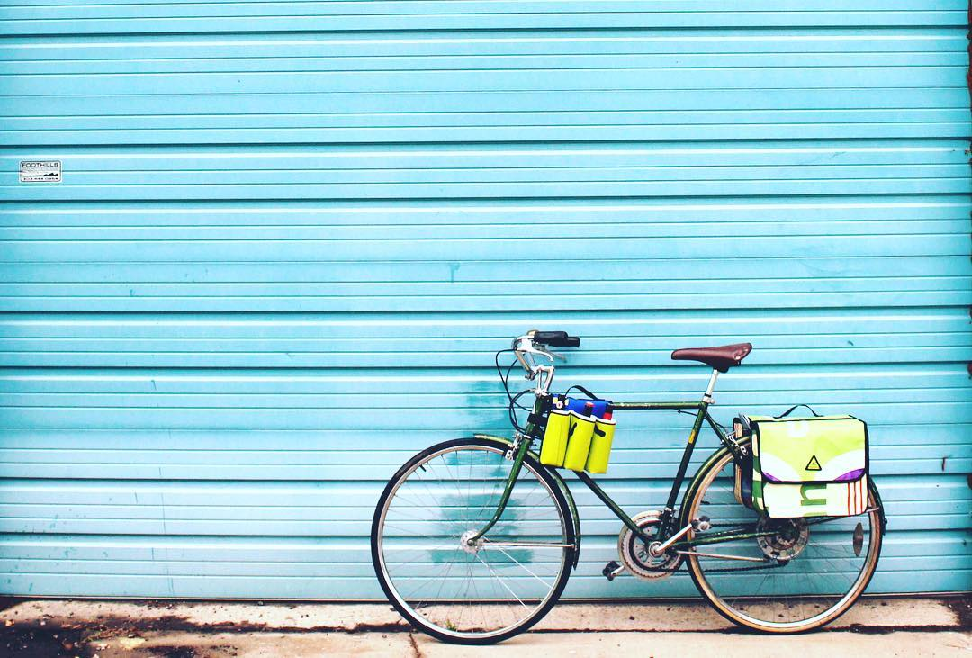 Ride to work or just around town in #style with our upcycled Pannier bag! #upgradetoupcycled