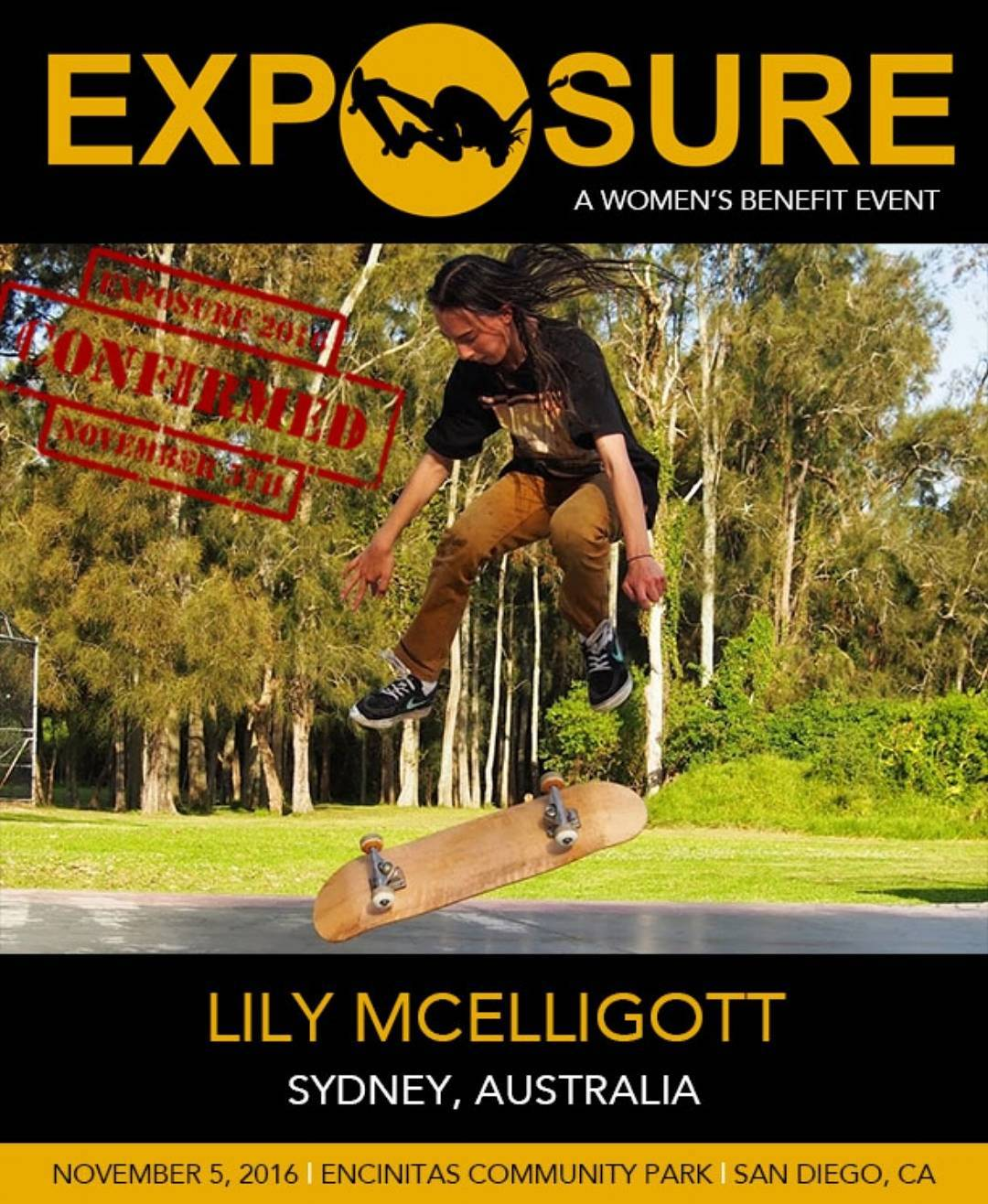 Our apology to Lily for getting the wrong image yesterday, and a Thank You to everyone who brought it to our attention ( esp. @martyr_skate & @diablocanyon2 ) . Lily McElligott IS confirmed, and we are stoked she is going to compete in our 15 & Over...