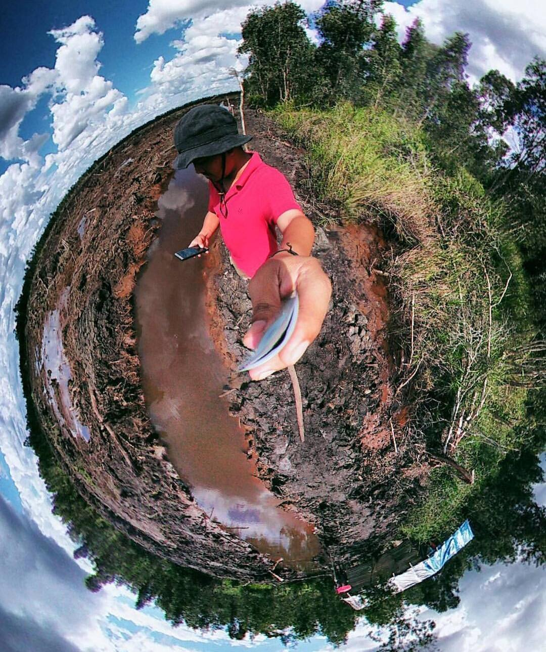 We may be a little late to the #tinyplanet party, but we're just glad we made it. Shout out to @pangkakena for capturing #deforestation in such a powerful way ✌️️ #Cuipo #SaveRainforest #noPLANetB #StopTheChop #Indonesia