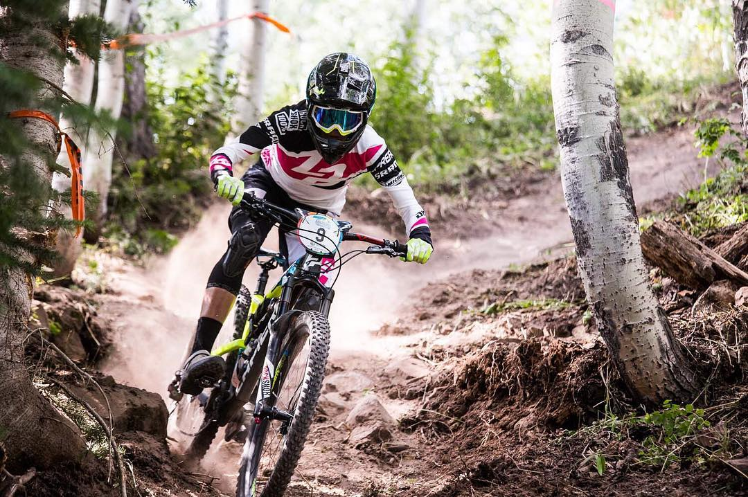 Trail Tuesday for @rae_morrison ! Looking forward to shredding dusty trails in our #ReconKneepads for the NZ summer. Photo @illprod  #EWSAspenSnowmass #SixSixOne #661Protection #ProtectFun