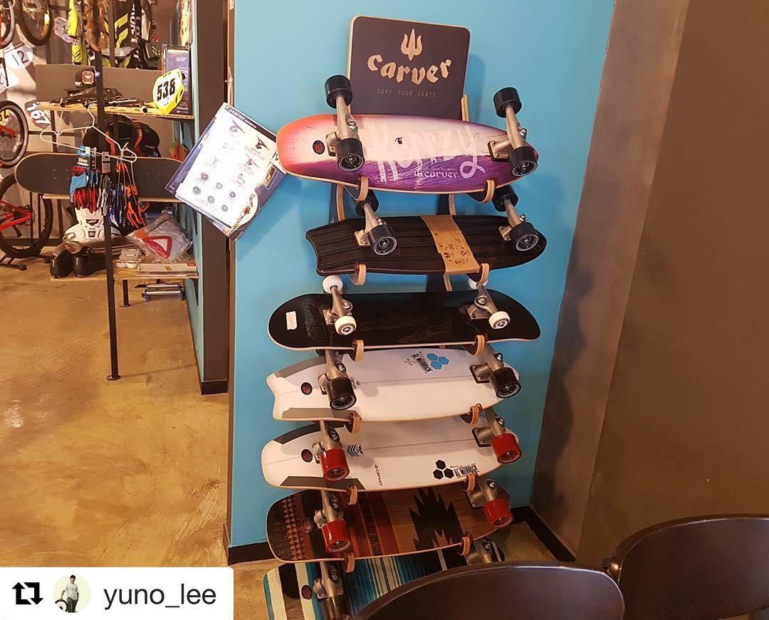 #Repost @yuno_lee with @repostapp ・・・ #carverskateboards 가 #RideOnNow 에 입고되었습니다.. 추가로 더 다양한 모델이 계속들어옵니다.. #carver #surfskate #skateboard  #xeeworks #kaisurf #kindsurf