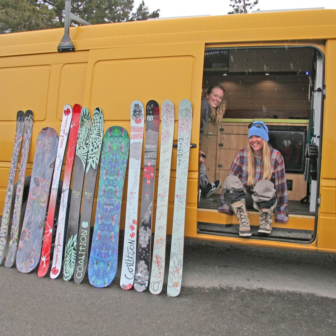 Catch the #bumblebeast this winter giving demos and slingin' skis. Ask @hutchski nicely and maybe she'll give you peak inside!