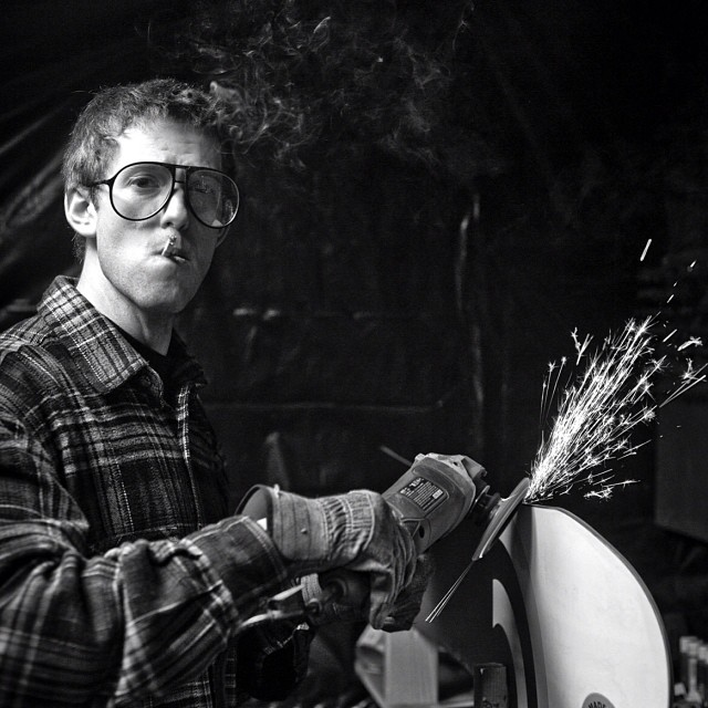 Issue 21 throwback pic of @austengranger by @blaaatt #quickdetune #grinder #dopeshades #signalsnowboards