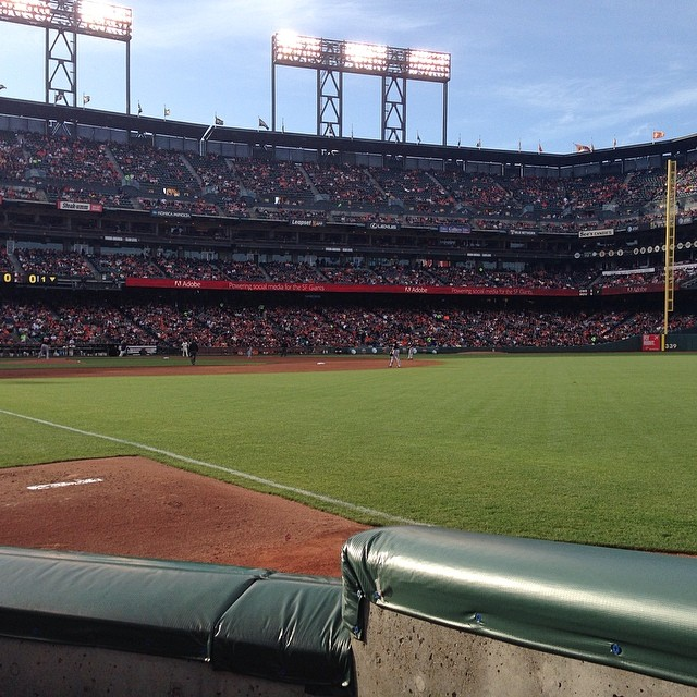 Not a bad night for a ball game in SF, #gogiants @sfgiants