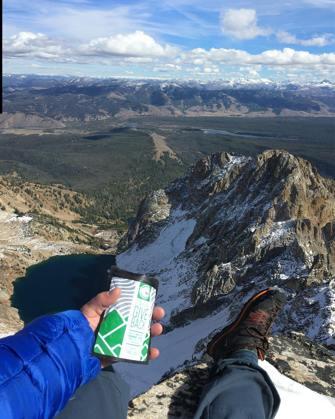 @youngmead fueling up on the top of Thompson Peak, the highest peak in the Sawtooth Mountains!