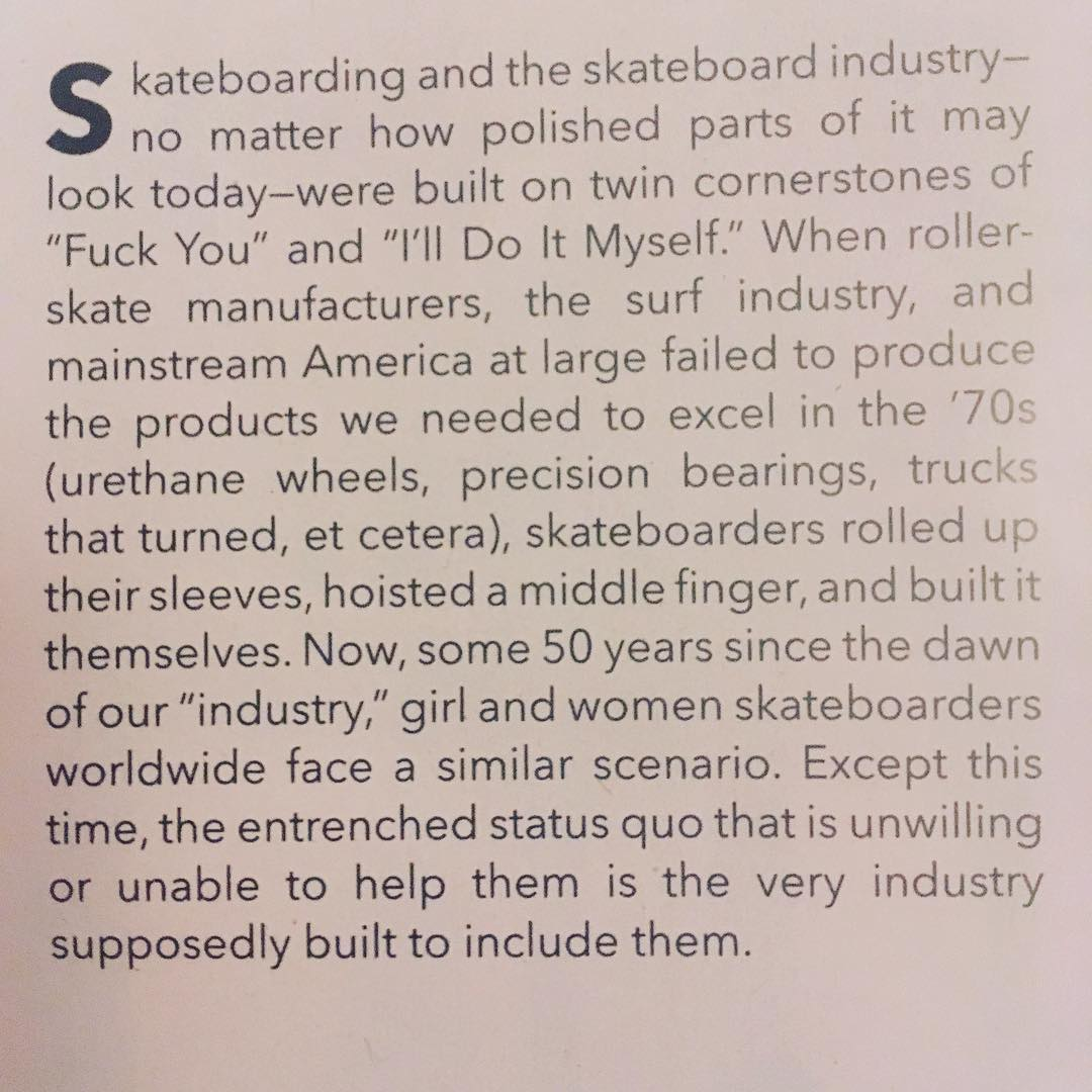 "Seeing this acknowledged in @transworldskate 's latest magazine is both validating and inspiring. Thank you for the revolutionary issue and for the powerful words Mackenzie Eizenhour ( @deadhippie) . @jaimeowens ' ""First Words"" have a similar effect!..."