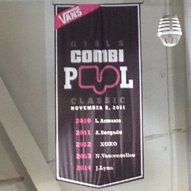 Yay for the Girls Combi Pool Classic banner!!! #girlscombipoolclassic #girlscombiclassic #skate #skateboard #skateboarding #skatelife #vans #vansskate