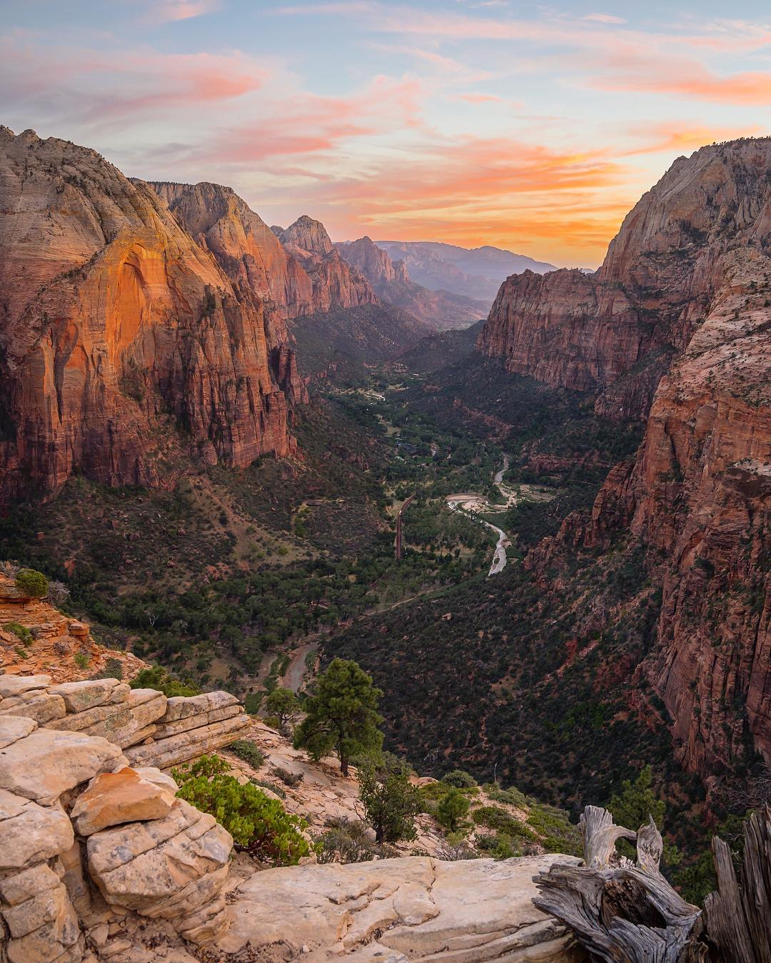 INSTA TAKEOVER! We are excited for our #InstagramTakeover tomorrow with our friend @tiffpenguin. She took this beautiful photo at Angels Landing in @ZionNPS. Follow her adventures at @tiffpenguin and check back tomorrow for her takeover. #ParkChamp...