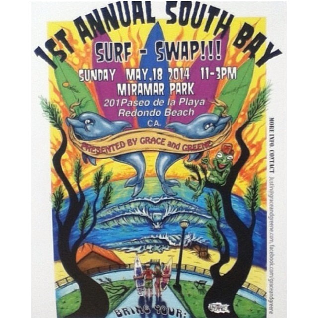 Bring your old #surfboards and #surf gear to Miramar Park in #RedondoBeach at 11am for the first Annual South Bay Board Swap! Great chance to get great deals on used boards, see some classics and meet some cool people in the community! Hope to see you...