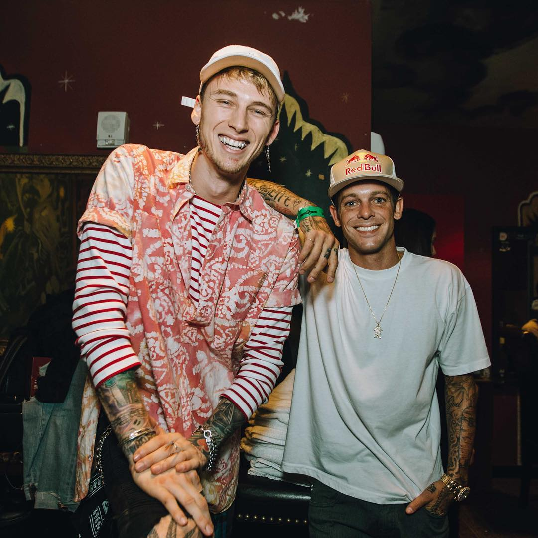 Three-time #XGames gold medalist @Shecks is kickin' it with @MachineGunKelly in San Diego! (
