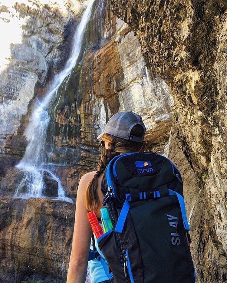MHM friend @katesplaydate at Bridal Veil Falls. Bubble wand optional. Photo by @theblackshot