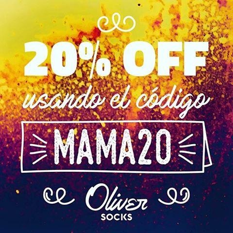 ¿Ya pensaste qué le vas a regalar a mamá? ¡Esta vez, vestile vos los pies a ella aprovechando la promo del 20% OFF en #OliverSocks!  Disfrutá tu beneficio en la web utilizando el código MAMA20 al finalizar tu compra y regalate algo para vos...