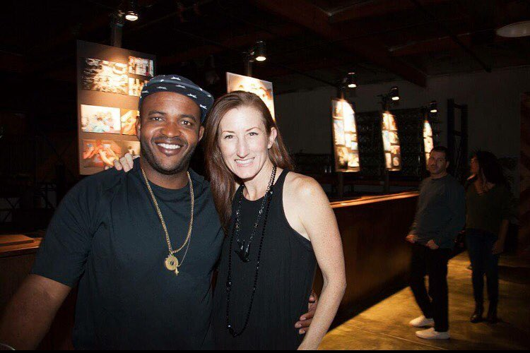 You can never have too many party pictures! Throwing it all the way back to last Thursday's 20th Anniversary celebration with @salmasekela and B4BC co-founder @glittergirlstudio! #b4bcamplify #b4bc20